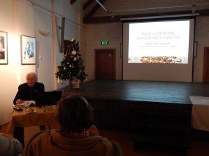 Petr Morávek přednáší v rámci cyklu Muzejní akademie